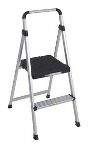 Cosco 11 628abk4 Lite Solutions Aluminum Frame Step Ladder 2 step Gray