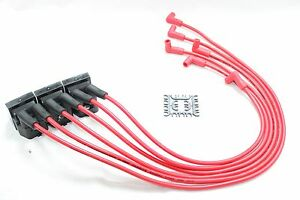Red 8 5mm Performance Spark Plug Wires Coil Packs 95 02 Camaro Firebird 3 8l V6