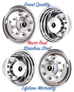 19 5 X 6 8 Lug Chevrolet Gmc C4500 Wheel Simulators Rim Liner Hubcap Covers