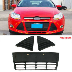 Front Bumper Left Right Cover Lower Grille Matte Black Fit For Ford Focus 12 14