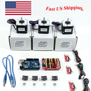 Arduino Cnc Kit W Uno Shield Stepper Motors Drv8825 Endstop A4988 Grbl Usfh