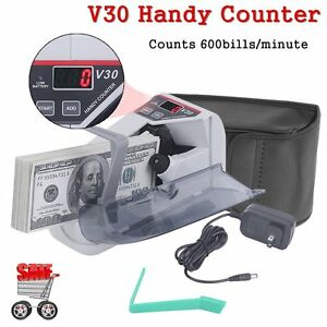 New Mini Portable Handy Currency Bill Money Cash Counter Counting Machine Fo