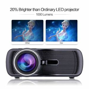 Hd 3d Led Projector Home Cinema 2018 Upgraded Crenova Hd Home Portable For Pc