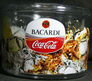 Bacardi Coca Cola Ice Bucket – With Removable Liner – Made in UK