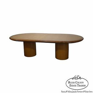 Studio Crafted Mid Century Modern Style Mixed Wood Conference Table