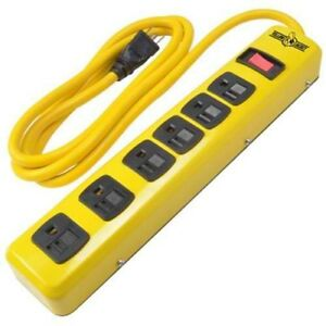Yellow Jacket 5139n Metal Power Strip With 6 foot Cord 6 outlet