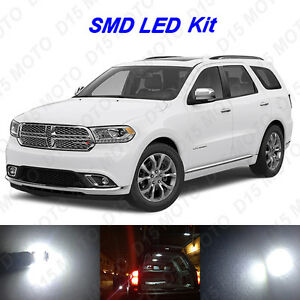 18 X White Led Interior Bulbs Fog Reverse Lights For 2014 2017 Dodge Durango