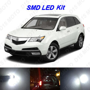 17 X White Led Interior Bulbs Fog Reverse Tag Lights For 2007 2013 Acura Mdx
