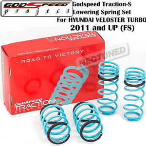 Godspeed Traction S Lowering Coil Springs Set For Hyundai Veloster Turbo 2011 Fs