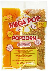 Gold Medal Popcorn Kit Coconut 8oz Kit For 6 Oz Popper 36 Count