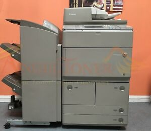 Canon Imagerunner Advance 6255 Mfp Black White Laser Copier Staple Finisher P1