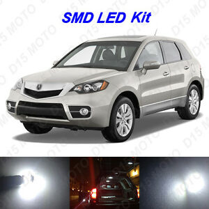 16 X White Led Interior Bulbs Fog Reverse Tag Lights For 2007 2012 Acura Rdx