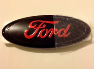 Ford Black And Red Front Grille Or Tail Emblem 9 For F150 250 350 Edge Explorer