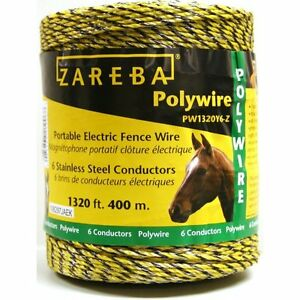 Zareba Pw1320y6 z 400m Polywire With 6 Conductors 1320ft