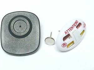 3 in 1 Bundle 1000 Eas Hard Tags And Security Ink Pins With Red Warning Pins