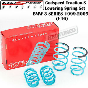 Godspeed Traction s Lowering Suspension Springs For Bmw 3 Series 1999 2005 Rwd