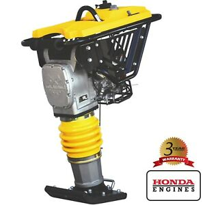 3 Hp Gas Impact Vibratory Rammer Jumping Jack Plate Compactor Honda 3 350 Lbs ft
