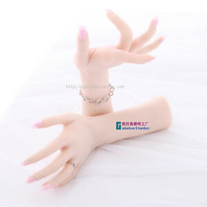 Silicone Lifelike Mannequin Female Right Hand Dummy Arbitrarily bent posed soft