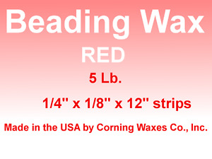 Dental Lab Jewelry Utility Beading Carding Wax Rope Strips Red 5 Lb Box For 44