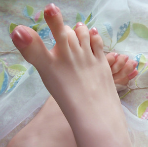 New 3d Lifelike Silicone Mannequin Foot Clones Arbitrarily bent posed soft V037