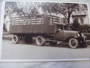 1930 1931 Chevrolet Rack Stake Truck 11 X 17 Photo Picture