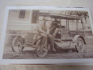 Ford Model T Early Truck A H Bozton Groceries 11 X 17 Photo Picture