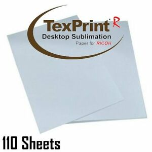 Texprint Transfer Paper 11 h Dye Sublimation 110sheets Tape For Ricoh Printers
