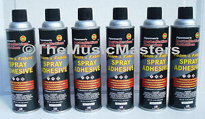 12x 12oz Cans Spray Glue Carpet Upholstery Fabric Adhesive Headliner Trunk Liner