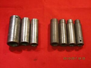 Lot Of Seven 7 Matco Mac Deep Impact Sockets A3