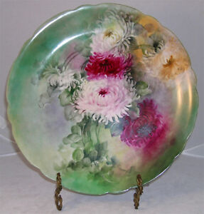 Large Limoges Hand Painted Charger