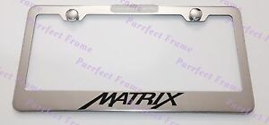 Toyota Matrix Stainless Steel License Plate Frame Rust Free W Bolt Caps