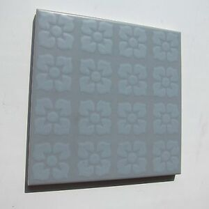 Vintage 1960s 6 X 6 Grey Floral Floor Tile 16 Sq Ft Available Made In Italy