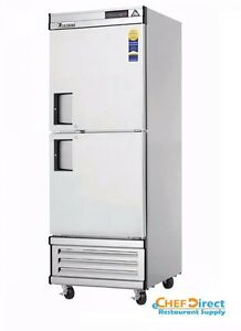 Everest Ebwfh2 One Section Two Half Door Upright Reach in Freezer