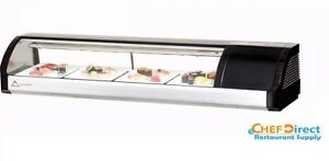 Everest Esc59r 59 Right Compressor Curved Glass Refrigerated Sushi Case