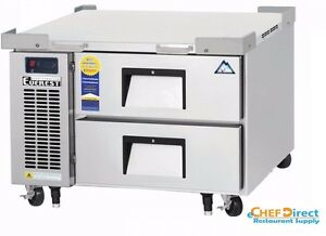 Everest Ecb36d2 36 3 8 One Section Two Drawer Side Mount Refrigerated Chef Base