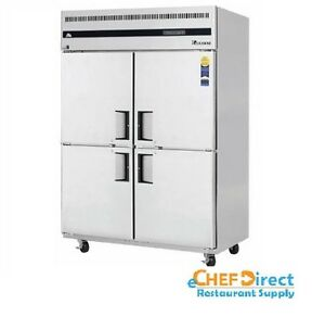 Everest Esrh4 Two section Four Half doors Reach in Refrigerator