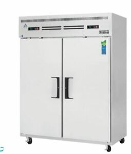 Everest Eswrf2 Two Section Upright Reach in Dual Temp Refrigerator freezer Combo