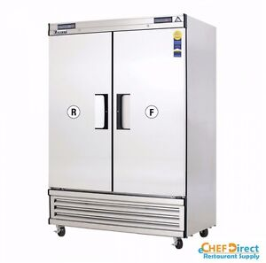 Everest Ebsrf2 Upright Reach in Dual Temp Refrigerator freezer Combo