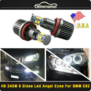 240w 6 Side Led Light H8 Cree Angel Eyes Halo Ring For Bmw E60 E61 E90 E92 Usa