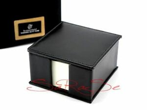 Tebe Good Living Bishop Memo Box Note cube Leather Onyx black New