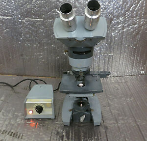 American Optical 1036a Lab Microscope With 1051 Power Unit And 2 Objectives