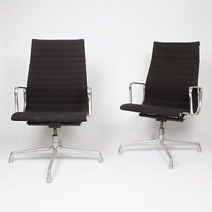 Eames Herman Miller Executive Aluminum Group Desk Chairs W Or W O Wheels 3x