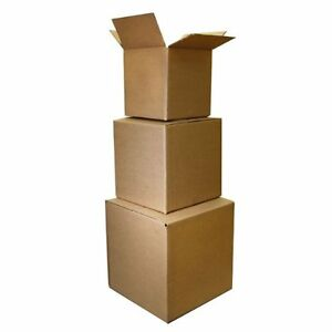 Shipping Boxes 10 Pack 20 x20 x20 Moving Box Cardboard Storage Carton Packing