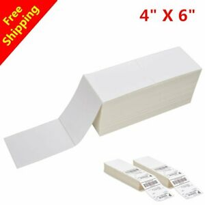 4000 20000 Fanfold 4 X 6 Direct Thermal Barcode Shipping Labels Zebra 2844 Ups