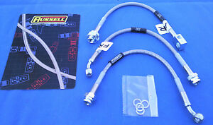 Buick Grand National Regal Stainless Braided Brake Lines Dot Legal 3pc Kit