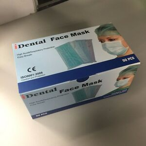Ear Loop Procedure Medical Surgical Face Mask white case Of 1000