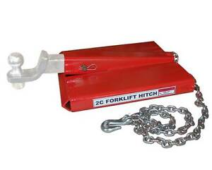 Forklift Hitch Ball Receiver Fork Lift Trailer Towing Adapter Safety Chain Hook