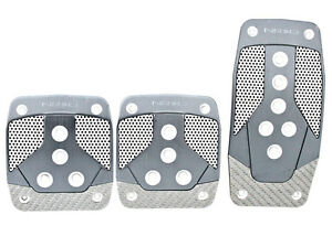 Nrg Manual Transmission Pedal Set Gun Metal Silver Carbon Universal