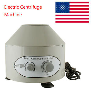 Us 110v Electric Centrifuge Machine 4000rpm 25w Medical Practice Lab Equipment