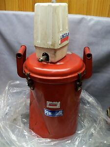 Lincoln Powerluber Pump With Drum Air Operated Grease Oil Pump drum Is Dented